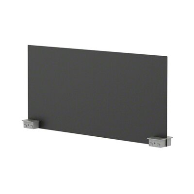 Bivi 14.25 H x 30 W Desk Privacy Panel Finish: Midnight Metallic (7246), Plastic Finish: Platinum (6249)