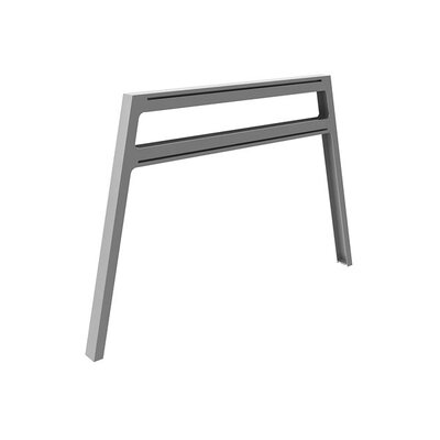 Bivi 28.5 H x 42.25 W Desk Legs and Bases Metal Finish: Platinum Metallic