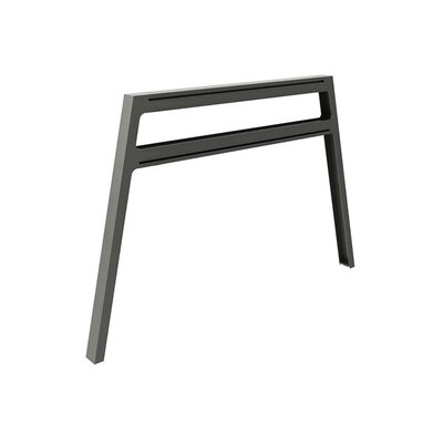 Bivi 28.5 H x 42.25 W Desk Legs and Bases Metal Finish: Midnight Metallic
