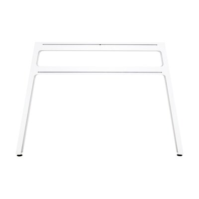 Bivi 28.5 H x 42.25 W Desk Legs and Bases Metal Finish: Arctic White