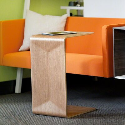 Campfire Turnstone Personal End Table Color: Arctic White