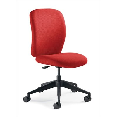 Steelcase Jack Mid-Back Task Chair -Fabric Color:Buzz2 -Sky, Arms:Fixed-Height & Maintenance Width T-arms, Casters/Glides:Hard Floor Caste at Sears.com