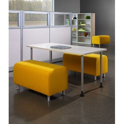 Steelcase Alight Lounge Bench Ottoman - Leg Finish: Brushed Aluminum, Fabric: Buzz2 - Yellow at Sears.com