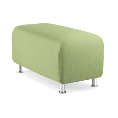 Steelcase Alight Lounge Bench Ottoman - Leg Finish: Brushed Aluminum, Fabric: Buzz2 - Orange at Sears.com