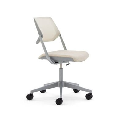 Steelcase Mesh QiVi Office Chair w/ No Arms -Frame/Base Color:Black/Black, Seat Slide/ Casters:Sliding Seat/ Hard Floor Caster, Fabric Col at Sears.com