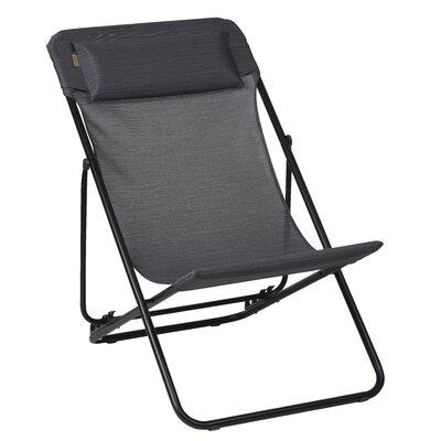 Lafuma Maxi Transat Lounge Chair I (Set of 2) - Fabric: Obsidian