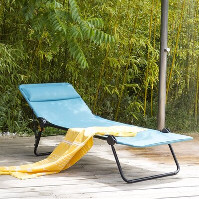 Sunside Chaise Lounge Seat Color: Aqua