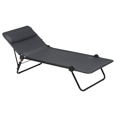 Sunside Chaise Lounge Seat Color: Obsidian