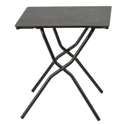 Anytime Square Folding Dining Table Finish: Titane Steel