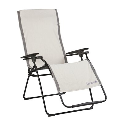 Image of 100% Cotton Recliner Towel Chair Cover Color: Ecru