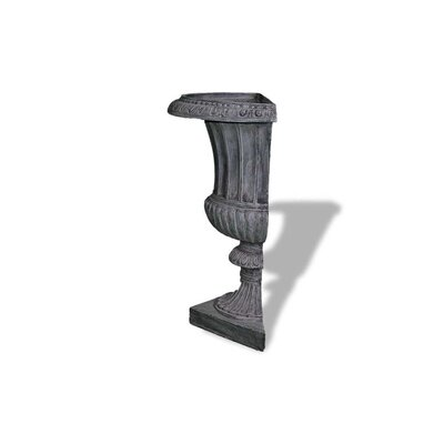 ResinStone Half Classic Ribbed Urn Size: 22