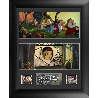 Snow White and the 7 Dwarfs Double FilmCell Presentation 2 Framed Vintage Advertisement USFC5821