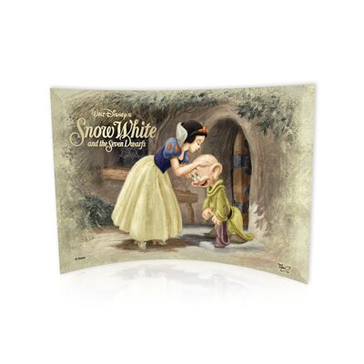 Snow White and the 7 Dwarfs (Dopey Kiss) Vintage Advertisement Plaque SP0710CUR070