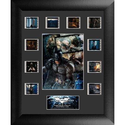 Batman The Dark Knight Rises Mini Montage FilmCell Presentation Framed Vintage Advertisement Back Light: No USFC5933