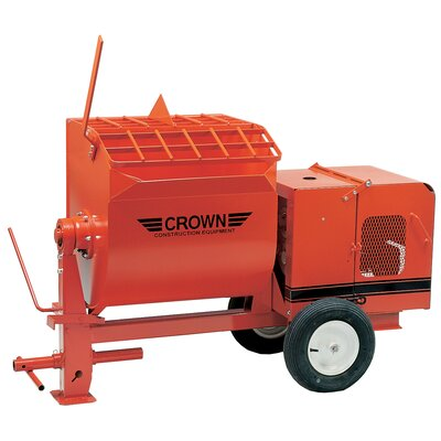 6S-E1.5 - 6 cu ft Mortar Mixer - 1.5 HP Electric w/ Options