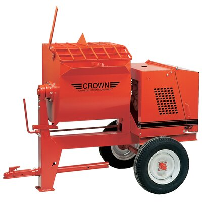 6SR-GR6 - 6 cu ft Towable Mortar Mixer - 6 HP Robin w/ Options