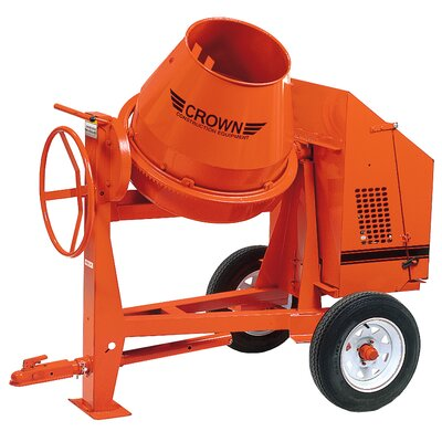 C6-CE1 - 6 cu ft Concrete Mixer - 1 HP Electric w/ Options