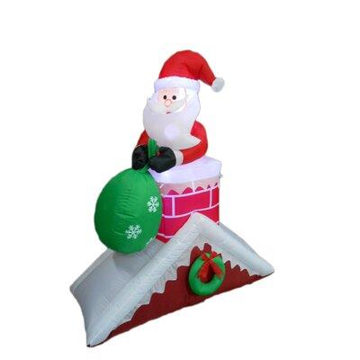 Santa Claus on Roof Christmas Decoration