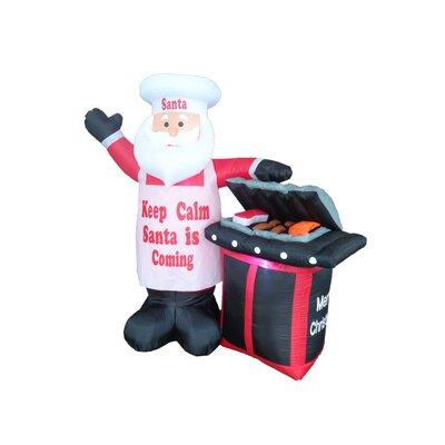 BBQ Santa Claus Christmas Decoration