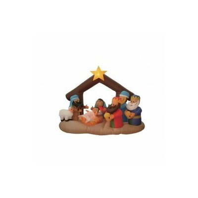 BZB Goods Christmas in-flatable Nativity Scene Under Stable at Sears.com