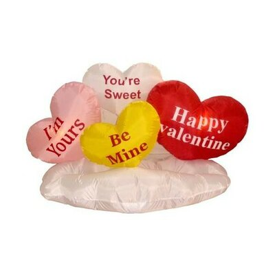 "Valentine's Day Inflatable Love Hearts on Cloud Decoration Size: 28""D"