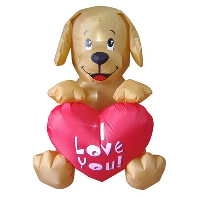 Valentine's Day Inflatable Puppy Party Decoration
