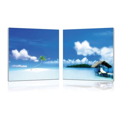 Oasis Modern 2 Piece Photographic Print Set