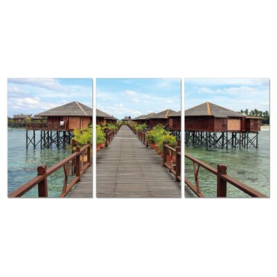 Long Vacation Modern 3 Piece Photographic Print Set