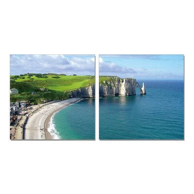 By The Sea Modern 2 Piece Photographic Print Set