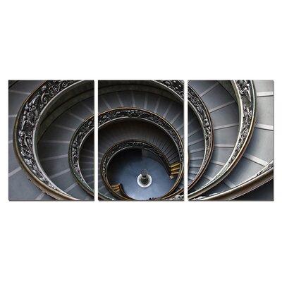 Spiral Stairway Modern 3 Piece Photographic Print Set