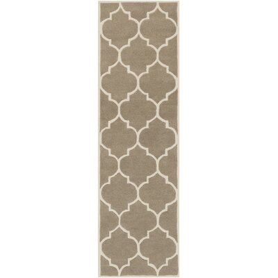 Ayler Beige Geometric Area Rug Rug Size: Rectangle 2 x 3