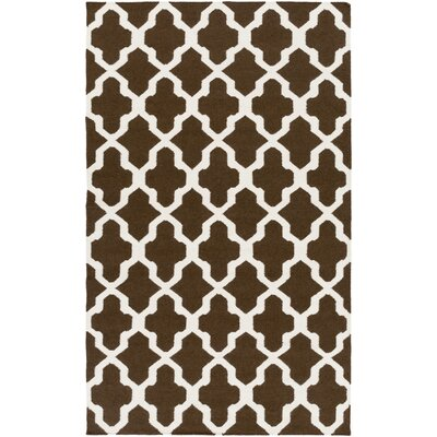 Bangor Brown Geometric Area Rug Rug Size: Rectangle 4 x 6