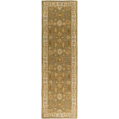Plemmons Green Area Rug Rug Size: Runner 23 x 12