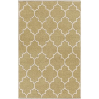 Ayler Gold Geometric Area Rug Rug Size: Rectangle 76 x 96