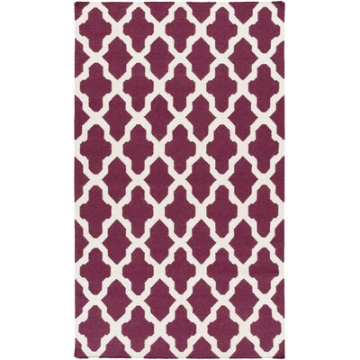 York Purple Geometric Olivia Area Rug Rug Size: 10' x 14'