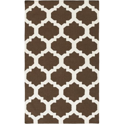 Bangor Brown Geometric Area Rug Rug Size: Rectangle 10 x 14