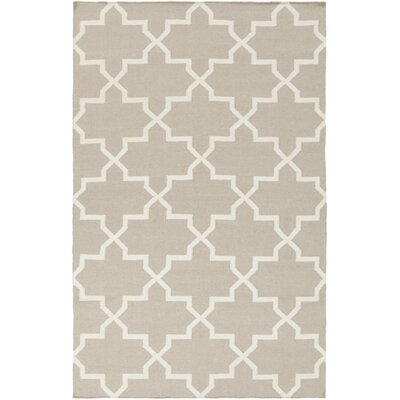 Bangor Beige/White Geometric Area Rug Rug Size: Rectangle 9 x 12