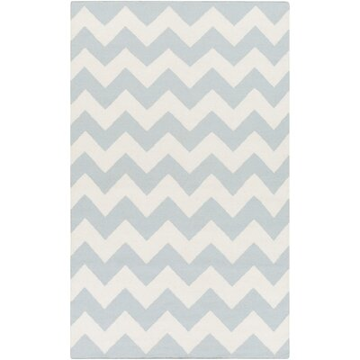 Bangor Blue Chevron Area Rug Rug Size: Rectangle 9 x 12