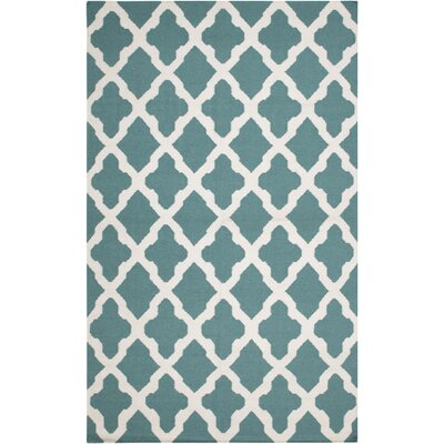 Bangor Teal Geometric Area Rug Rug Size: Rectangle 10 x 14