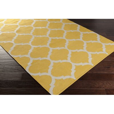 Bohannon Bright Yellow Geometric Area Rug Rug Size: Rectangle 5 x 8