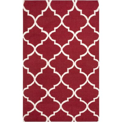 Bangor Red Geometric Area Rug Rug Size: Rectangle 4 x 6