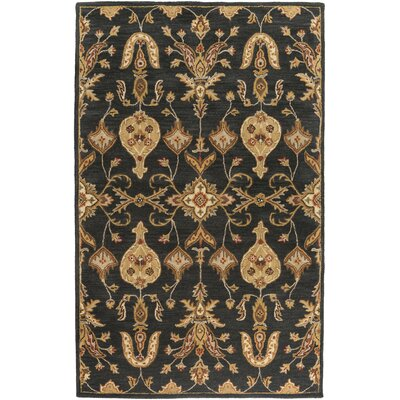 Plemmons Handmade Black Area Rug Rug Size: Rectangle 76 x 96