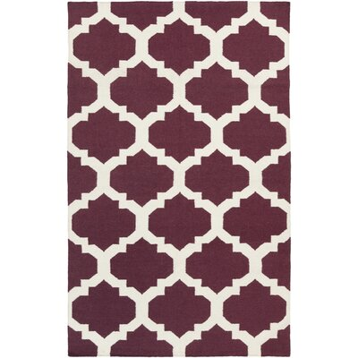 Bangor Purple Geometric Area Rug Rug Size: Rectangle 9 x 12