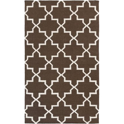 Bangor Brown Geometric Area Rug Rug Size: Rectangle 5 x 8