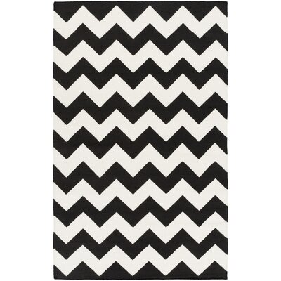 Bangor Black Chevron Area Rug Rug Size: Rectangle 4 x 6