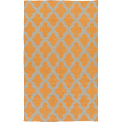 York Orange Geometric Olivia Area Rug Rug Size: 5 x 8