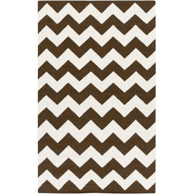York Brown Chevron Pheobe Area Rug Rug Size: 9 x 12