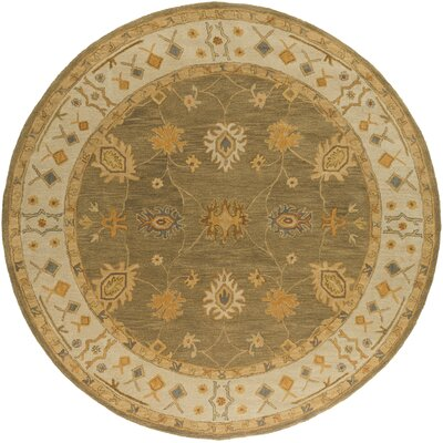 Middleton Green Willow Area Rug Rug Size: Round 6