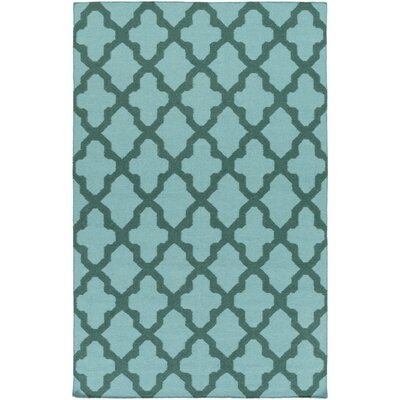 Bangor Seafoam Geometric Area Rug Rug Size: Rectangle 4 x 6