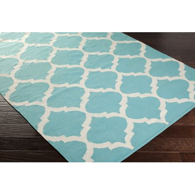 Vogue Geometric Everly Blue Area Rug Rug Size: 4 x 6